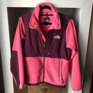 NORTH FACE Women's Denali Jacket Pink / Maroon